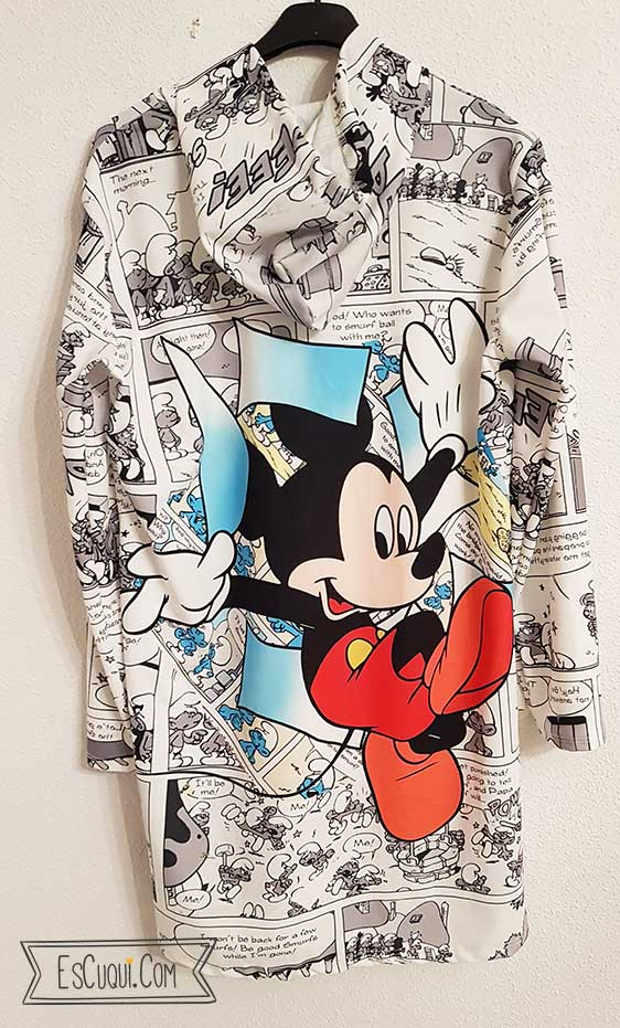 vestido mickey comic pitufos