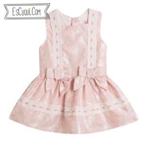 vestido vestir niña bebe rosa corto