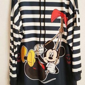 sudadera tipo vestido mickey rayas marinero