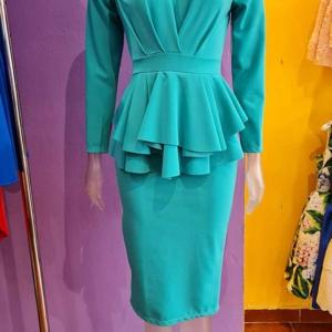 vestido peplum aguamarina vestir elegante