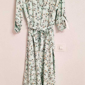 vestido flores largo camisero