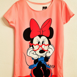 vestido tipo camisola Minnie mouse gafas rosa mujer