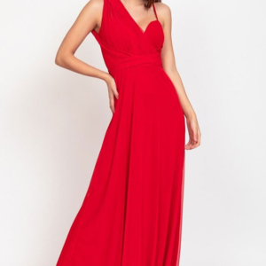 vestido multiposicion largo caida rojo barato