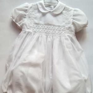 ranita bautizo bebe talla 12 meses marfil barata