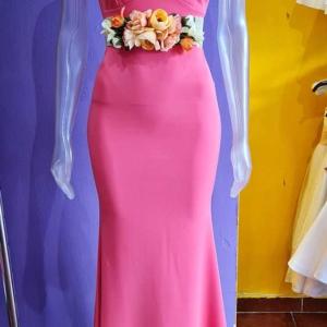 vestido corte sirena coral largo vestir mujer